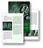 Music Studio Word Template