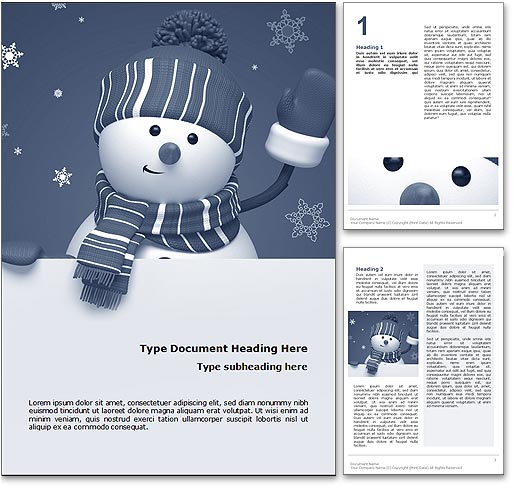 Frosty The Snowman word template document