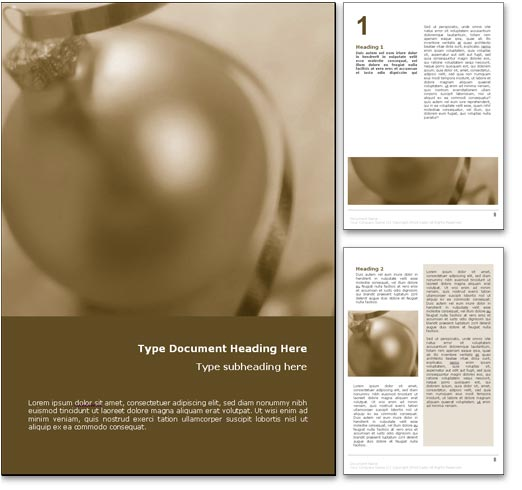 Christmas Greetings word template document