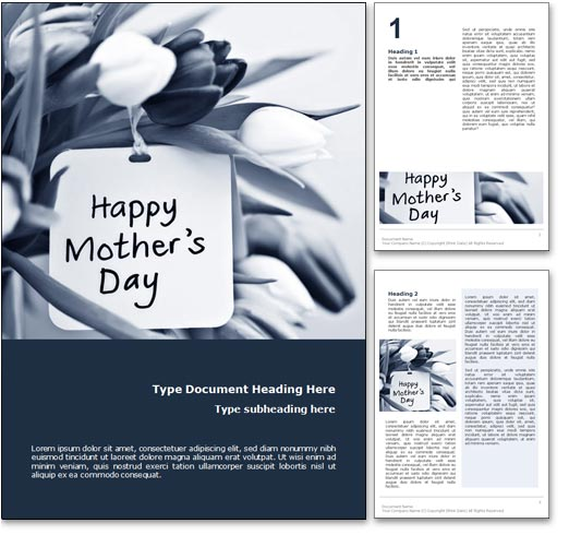 Happy Mothers Day word template document