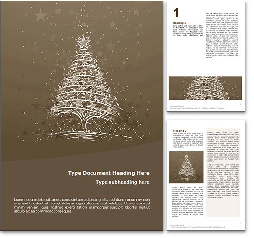 Christmas Word Template Document  Christmas Word Document Template