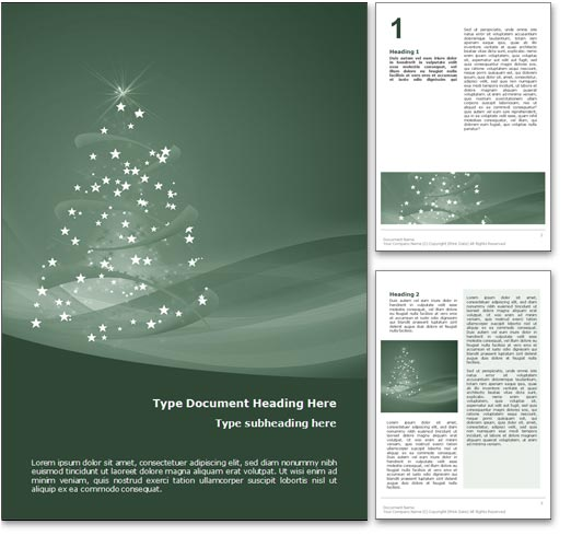 Royalty Free Happy Holidays Microsoft Word Template In Green