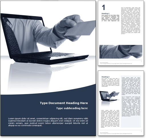 Royalty free online business microsoft word template in blue wajeb Image collections