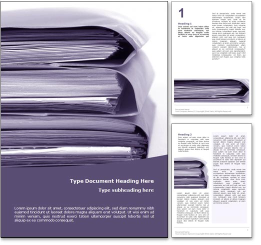 Superb Royalty Free Document Management Microsoft Word Template In Purple . Regard To Free Templates For Word Documents