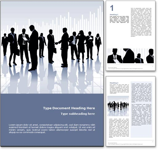 Royalty free communication microsoft word template in blue wajeb Choice Image