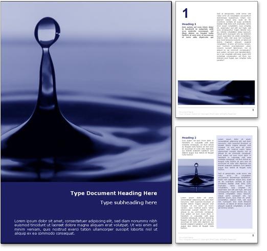 Design Microsoft Word Ocean Word Template Design