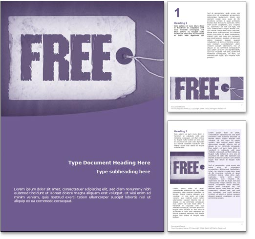Royalty free free microsoft word template in purple for Free microsoft word templates