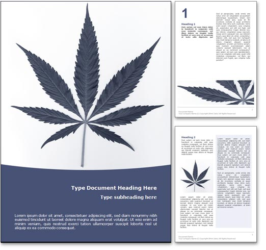 Marijuana word template document