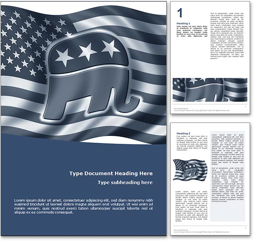 Republican Candidate word template document