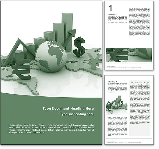 World Economy word template document