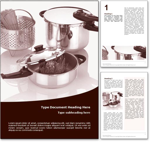 Cooking word template document