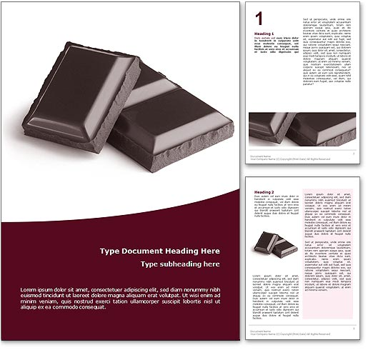 Chocolate word template document