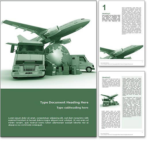 Logistics word template document