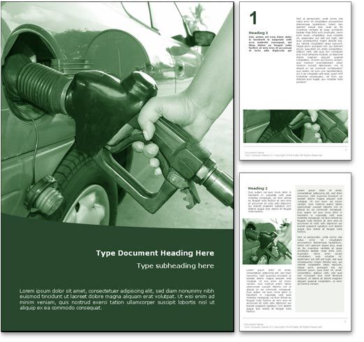 Fuel word template document