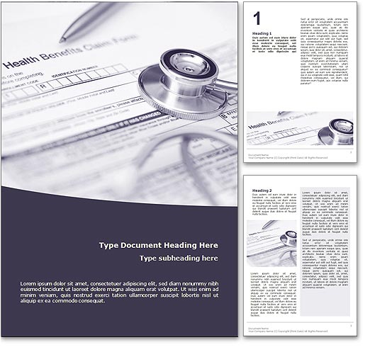 Health Insurance word template document