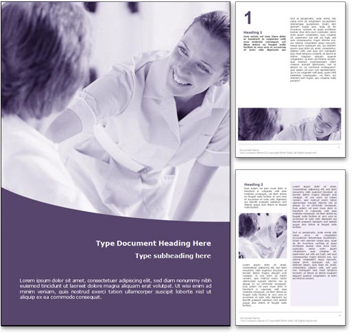 Royalty Free Nursing Microsoft Word Template in Purple – Free Templates for Word