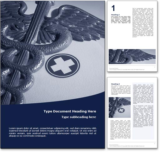 Royalty Free Medicine Microsoft Word Template In Blue – Medical Templates for Word