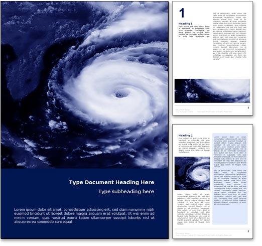 royalty free hurricane weather microsoft word template in blue