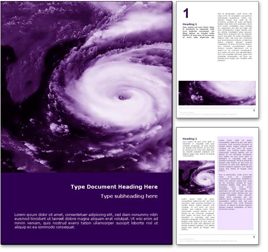 Hurricane Weather word template document