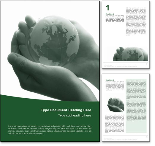 Fragile Earth Word Template Document  Free Word Templates