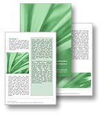 Abstract Leaves Word Template