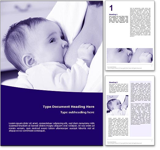 Breastfeeding word template document