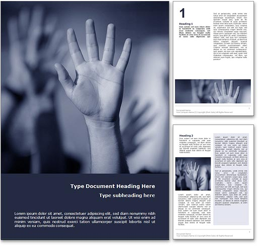 Human Rights word template document