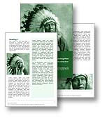 Native American Word Template