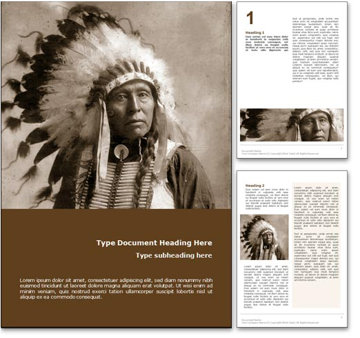 Royalty free native american microsoft word template in orange native american word template document toneelgroepblik Choice Image