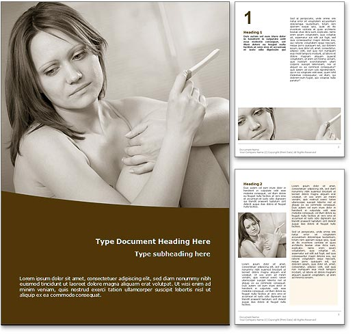 Teen Pregnancy word template document