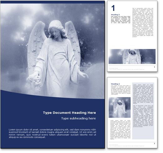 Angel word template document
