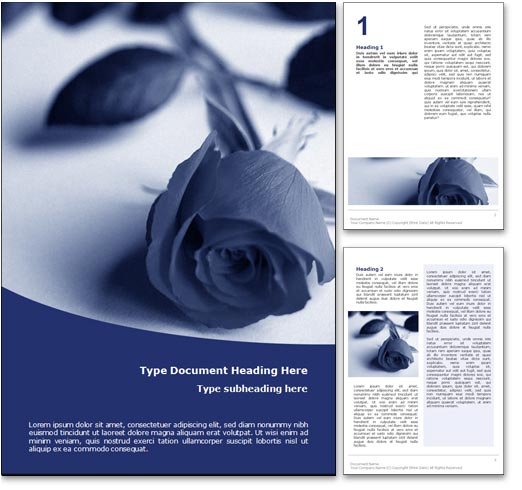 Funeral word template document