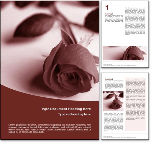 royalty free funeral microsoft word template in red, Presentation templates