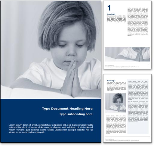Faith word template document