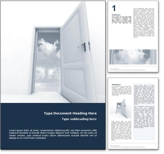 Heaven word template document