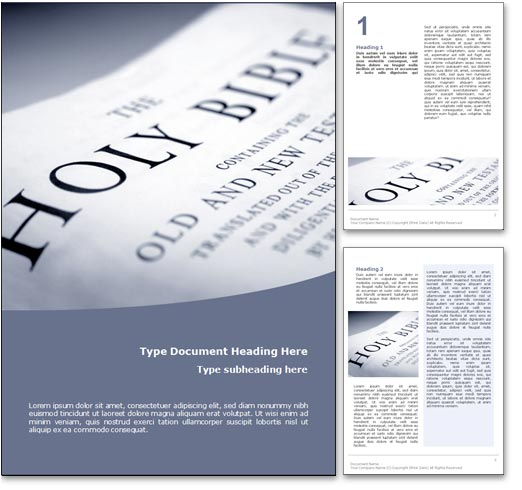 Holy Bible word template document