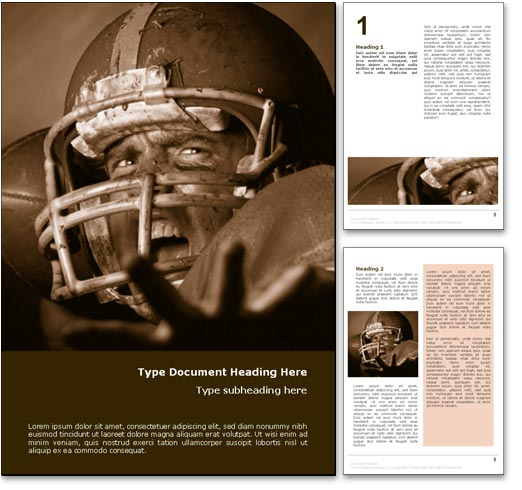 Football Quarterback word template document