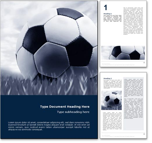 Site Map Template Word: Royalty Free Soccer Microsoft Word Template In Blue