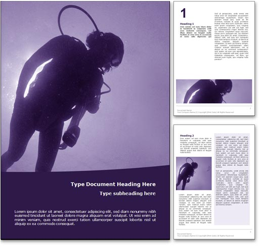 Scuba Diving word template document