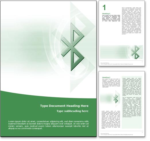 Bluetooth word template document