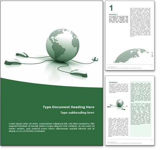 Royalty Free Courses Online Microsoft Word Template In Green – Word Cover Page Template Free