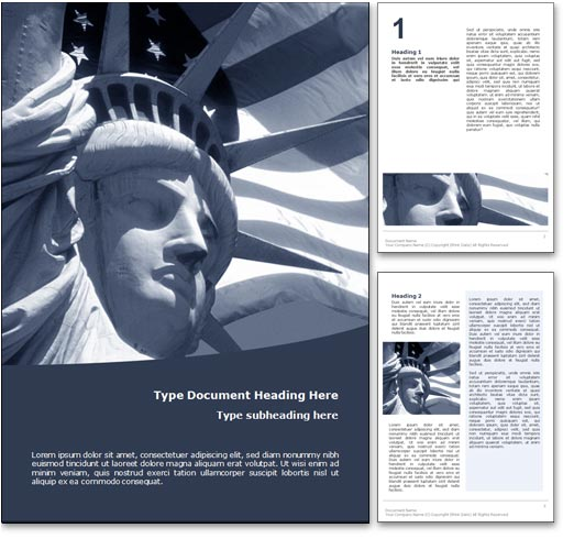 USA word template document